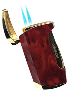 torch lighter for cigars with double flame