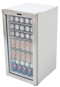 Whynter stainless steel drinks cooler box.