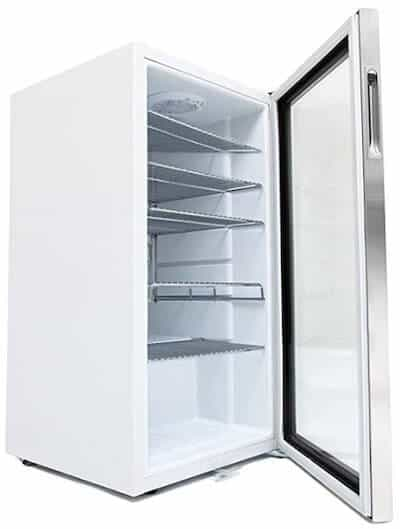 Whynter drinks fridge in white trim
