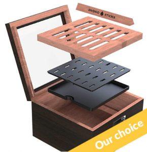 Elegance box to keep cigars humid