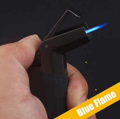 Wind resistant lighter flame