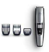 Self-sharpening stainless steel bladed electric shaver