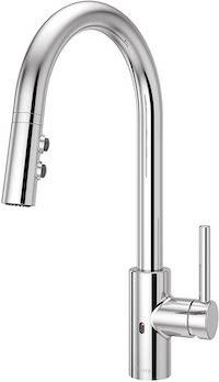 Electronic motion sensor kitchen faucet